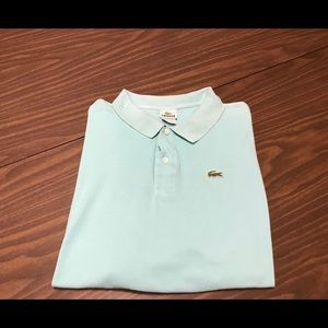 Lacoste Men's Polo T Shirt Eur 9 Size 3XL Blue